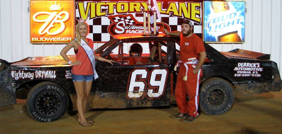 Screws inches by Wimberly for first win at Swainsboro Raceway!