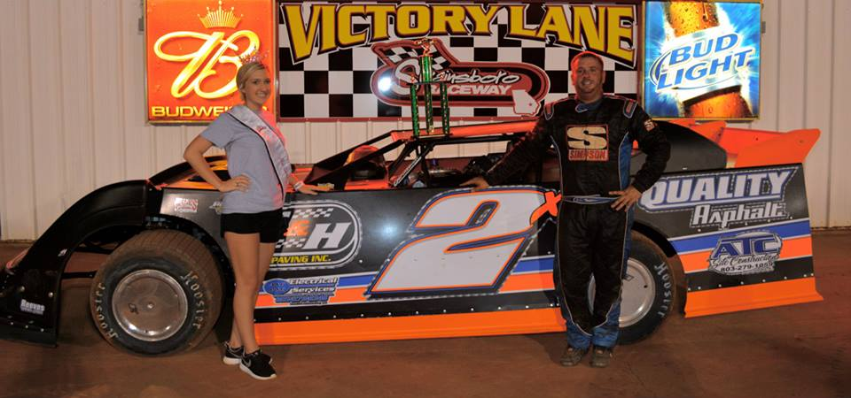 Henderson hooks up to win $2000 Zaxby's Crate Late Model Race