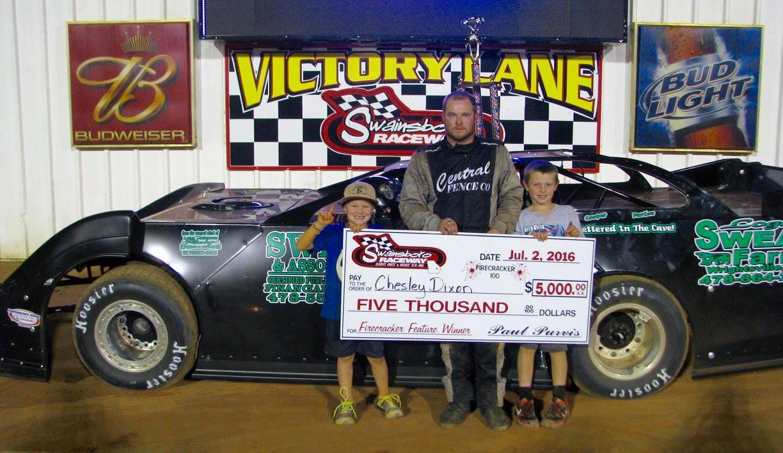 Dixon Dominates Firecracker 100 at Swainsboro Raceway!