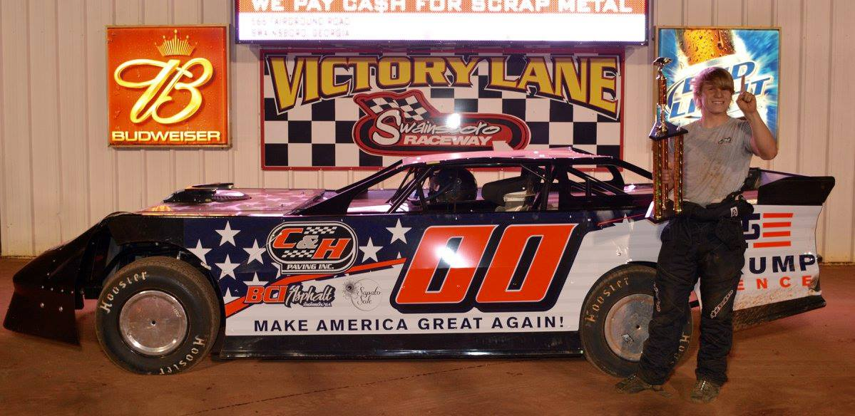 Cranford Takes Trump Train to Victory Lane at Swainsboro Raceway!