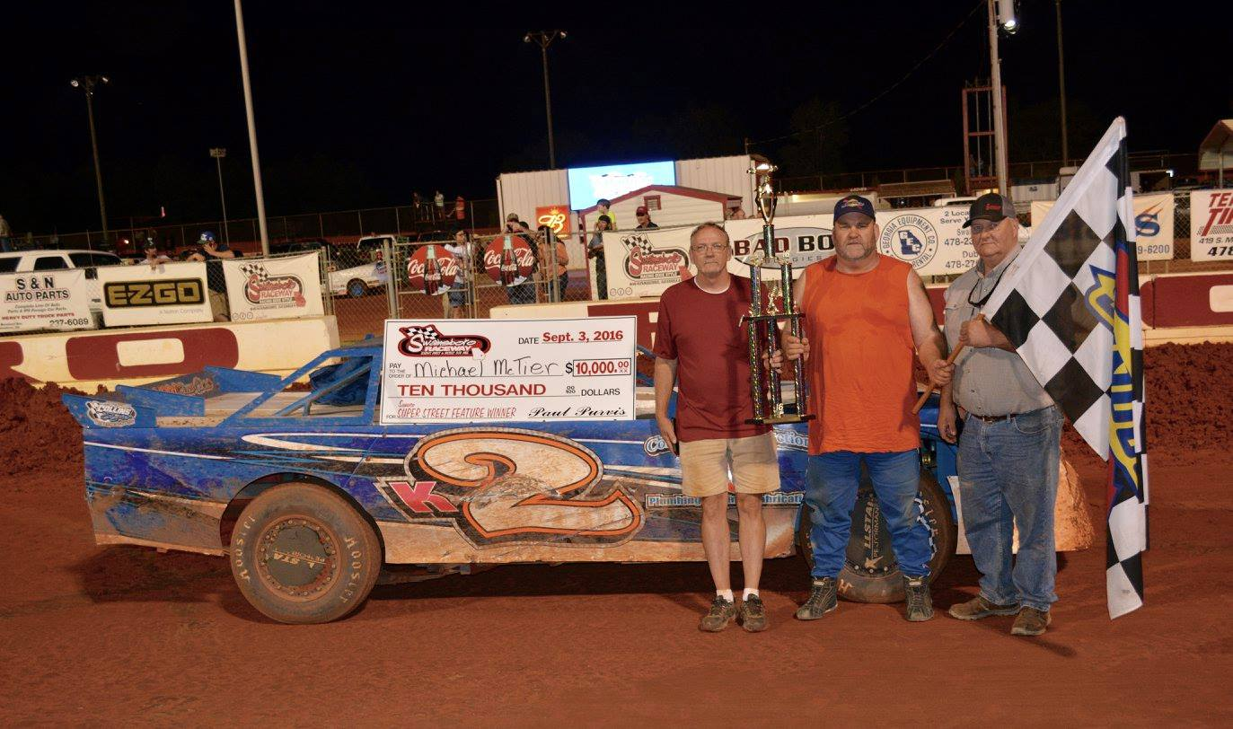 McTier Wins $10,000 at Swainsboro Raceway!