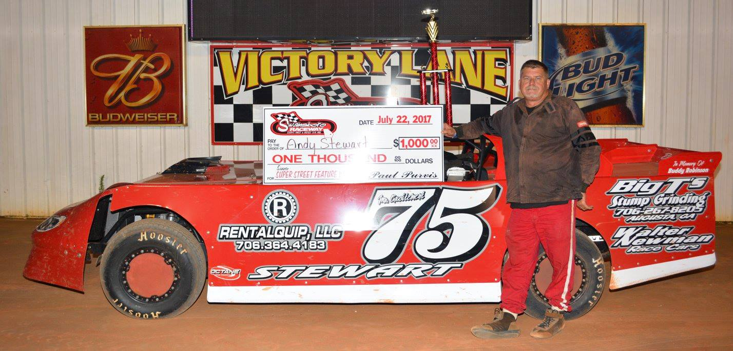 Stewart Sweeps Two Wins at Swainsboro Raceway!