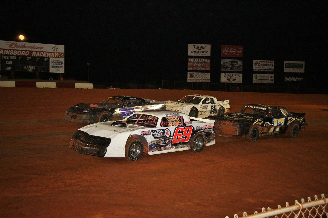 "This Weekend at Swainsboro Raceway ""The Southern Classic""Daniels Chevrolet Pure Stock $5,000 to win"